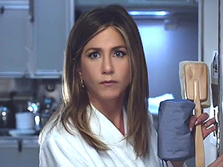 VIDEO: Jennifer Aniston Stars in Funny New Emirates Commercial Wearing Only a Bathrobe