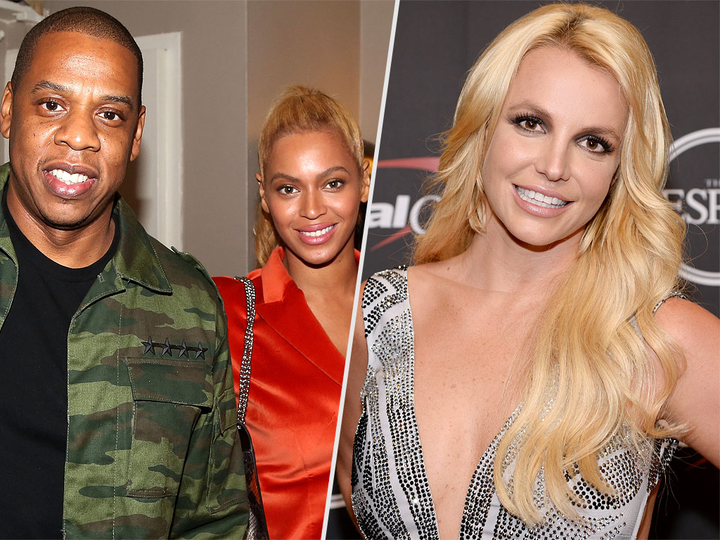 beyonce jay z attend britney spears planet hollywood las