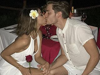 Sarah Hyland Celebrates Her Birthday with a Sexy Serenade and Smooch from Boyfriend Dominic Sherwood