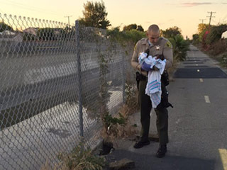 Newborn Found Buried Alive Amid Rubble Near Bike Path in California