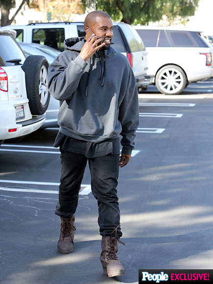 Kanye West Can't Stop Smiling During First Outing Since Welcoming Son Saint