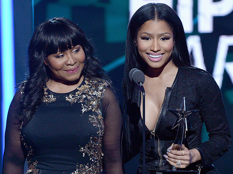 Nicki Minaj with Mom Carol at BET Awards 2015 : People.com