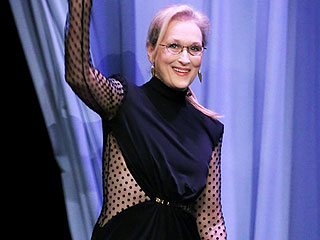 Meryl Streep, 66, Stuns in a Sheer, Jaw-Dropping Jumpsuit (Plus, More Looks from Her Style Hot Streak)