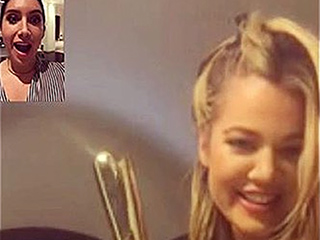 Khloé Kardashian Learning to Do Her Own Hair Is Oddly Mesmerizing