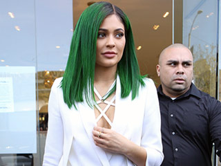 Emerald City! Kylie Jenner Debuts New Green Hair Color at Lip Kit Launch