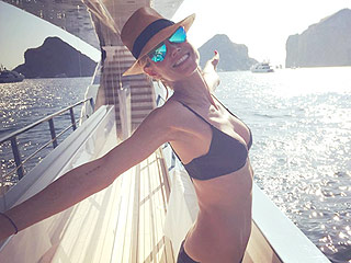 Heidi Klum Brings Her Tiny Bikini on Vacation, Plus More Enviable Celeb Swimwear Pics
