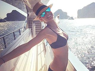 Heidi Klum Brings Her Tiny Bikini on Vacation, Plus More Enviable Celeb Swimwear Pics