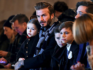 David Beckham and His Adorable Kids Sit Front Row for Mom Victoria's Latest Fashion Show