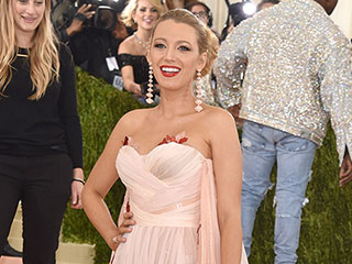 Blake Lively Keeps Baby Bump Under Wraps in Burberry at Met Gala