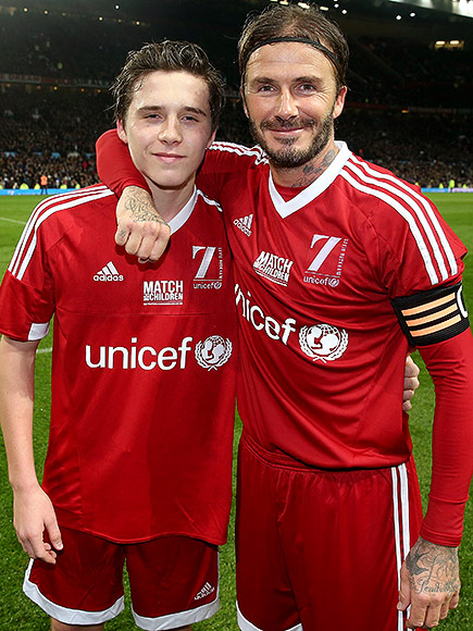 Brooklyn Beckham Leaps Over Dad, David While Skateboarding