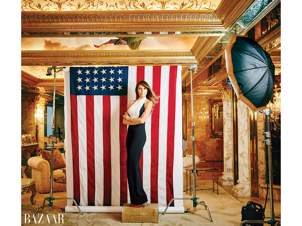 Melania Trump Defends Husband Donald In Glamorous New ...
