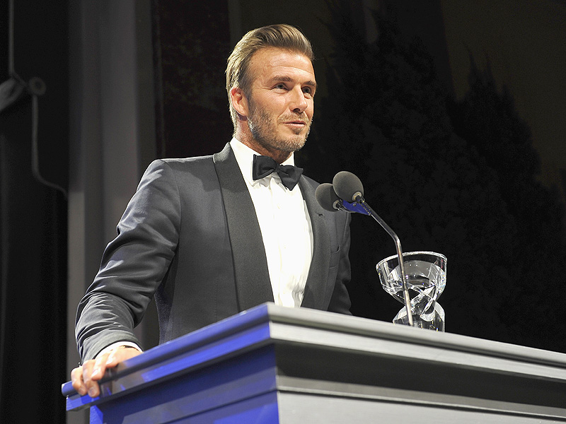 David Beckham Receives Award at UNICEF Ball