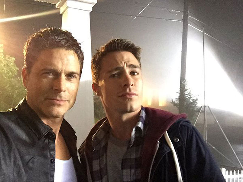 Rob Lowe Colton Haynes Share Father Son Selfies From The