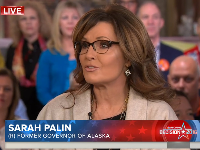 Sarah Palin Denies Blaming President Obama for Son's PTSD
