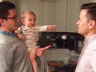 Watch the Sweet (and Confusing!) Moment When a Baby Meets Her Dad's Twin for the First Time