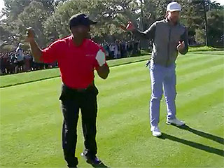 Back By Popular Demand: Alfonso Ribeiro and Justin Timberlake Do The Carlton During Golf Tournament