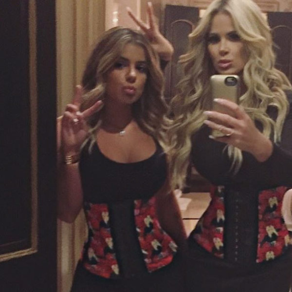 Kim Zolciak and Daughter Brielle Show Off Matching Waist Trainers