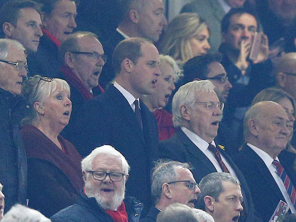 See Prince William Belt Out the Welsh National Anthem at Rugby Match