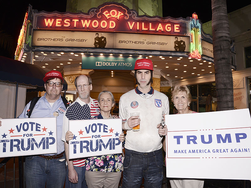 Donald Trump Slammed by Sacha Baron Cohen at Grimsby Premiere