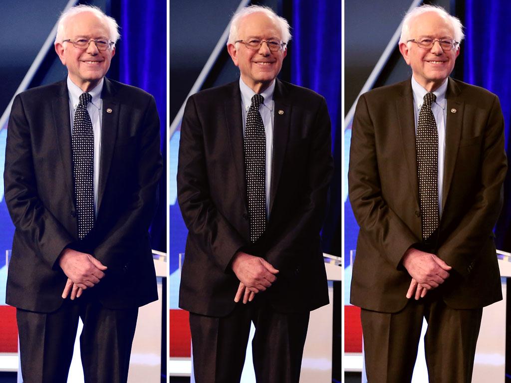 Bernie Sanders' Suit at Democratic Debate Inspires Twitter Speculation