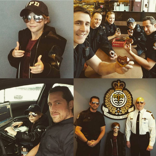 Jacob Tremblay Goes to Work with his Dad and Plays Cop for a Day