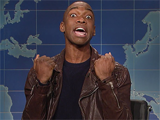 Saturday Night Live's Jay Pharoah Reveals the Secret to Asking for an Impromptu Impression (Hint: Wait Until He's Finished Chewing!)