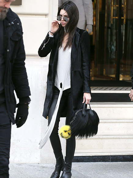 Kendall and Kris Jenner Step Out During Paris Fashion Week