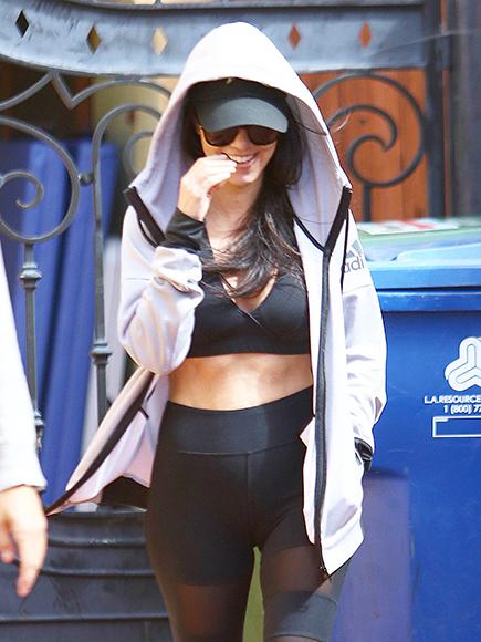 Kourtney Kardashian Shows Off Toned Tummy as She Leaves the Gym