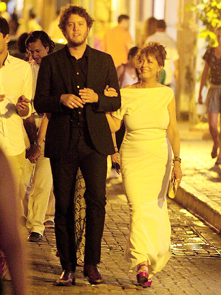Susan Sarandon with Son Jack in Colombia