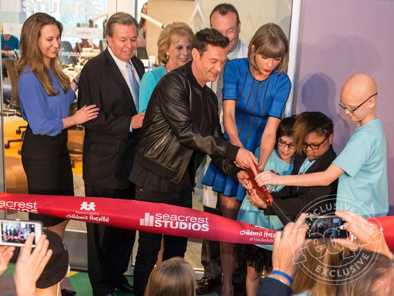 Taylor Swift at Ryan Seacrest's New Pediatric Studio in Nashville