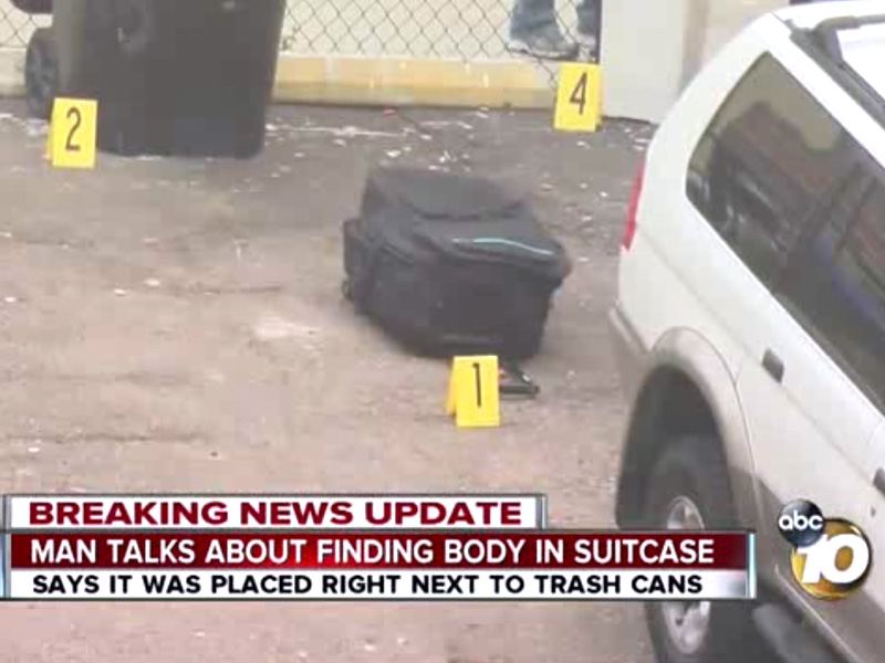 Young Woman's Body Found Stuffed in Suitcase Behind San Diego Hotel