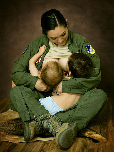 Breastfeeding Moms Pose for Photos in Their Workplace