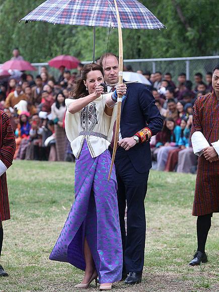 Princess Kate Tries Archery in Bhutan