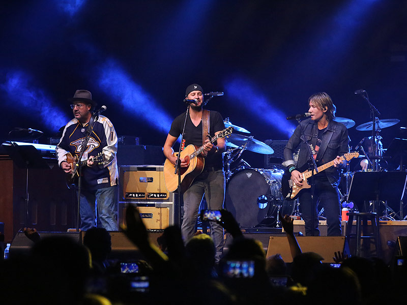 All for the Hall Benefit Concert; Luke Bryan, Keith Urban, Vince Gill Perform