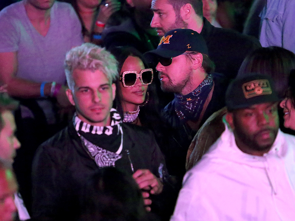 Rihanna, Leonardo DiCaprio Hang Out at Coachella Levi's Event