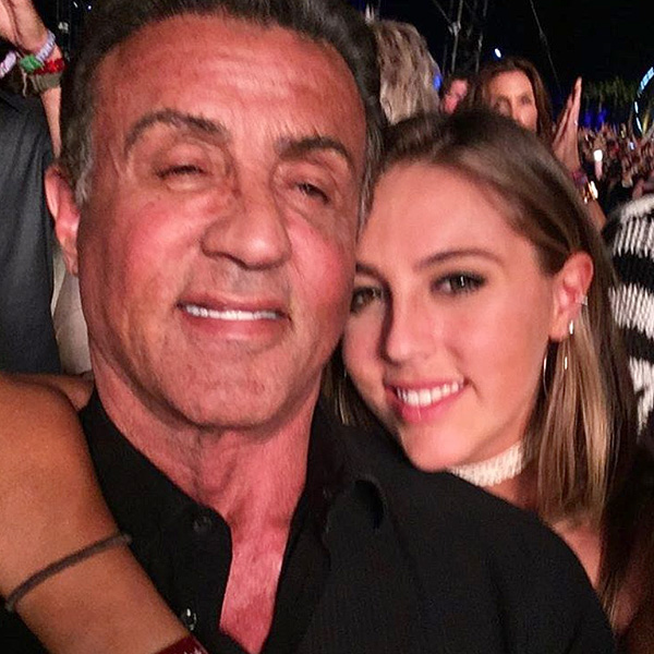 Sylvester Stallone Rocks Out with Daughter at Coachella