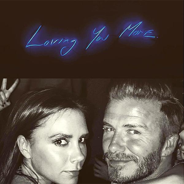 David Beckham Posts Happy Birthday Message for Wife Victoria: Photo