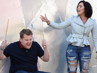 FROM EW: Carpool Karaoke – Nick Jonas and Demi Lovato to Ride with James Corden