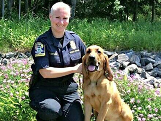 State Police Bloodhound and Very Good Boy Finds Missing 89-Year-Old Woman