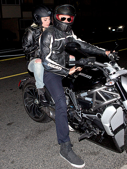 Bradley Cooper Takes Lady Gaga to Dinner on His Motorcycle