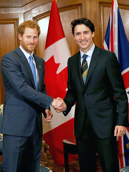Prince Harry Meets Canadian Prime Minister Justin Trudeau