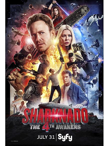 Skarknado 4: Ian Ziering and Tara Reid in Star Wars-Themed Movie Poster