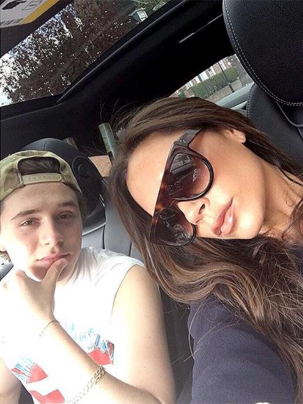 Victoria Beckham Shares Photo of Brooklyn Driving Her Around