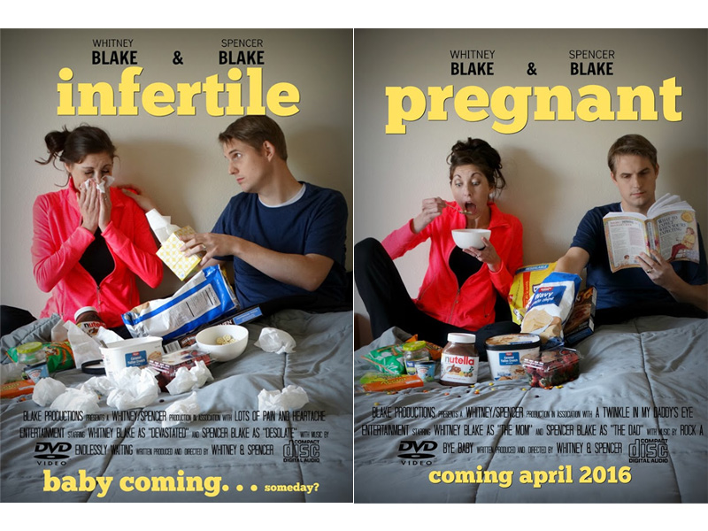 Humorous Infertility Posts Parody Popular Pregnancy Announcements : People.com