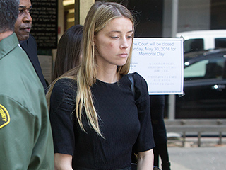 WATCH: Amber Heard Seen with Black Eye Leaving L.A. Courthouse After Making Domestic Violence Claim Against Johnny Depp