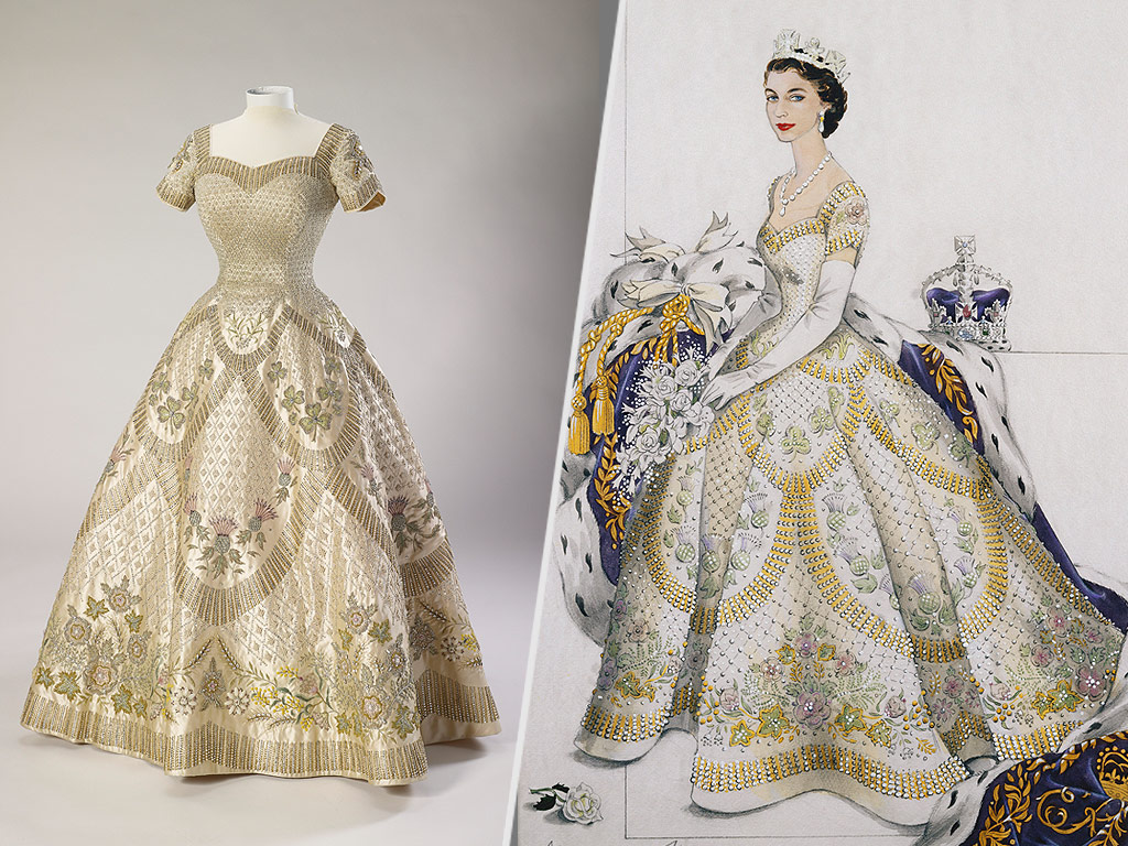 Wedding Dresses For Queens : Queen elizabeth s wedding and coronation dresses display