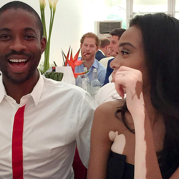 Prince Harry Photobombs Winnie Harlow