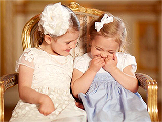 Giggle Girls! Swedish Royal Palace and Princess Madeleine Release Adorable New Photos from Prince Oscar's Christening