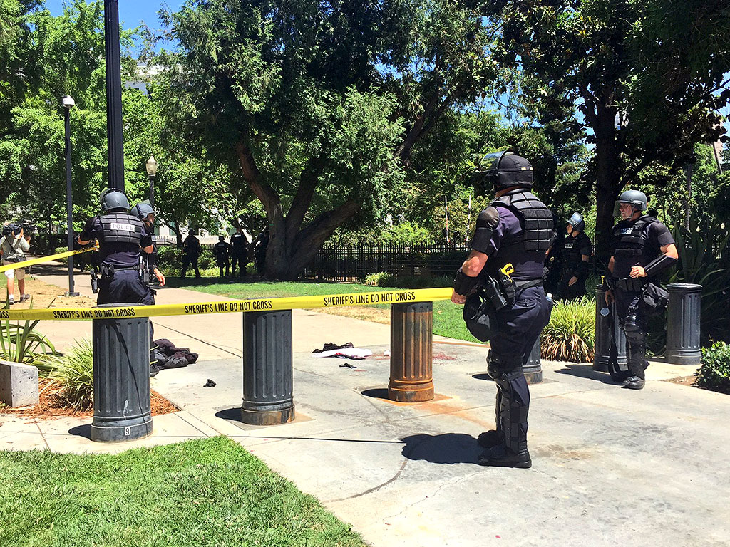 At Least 6 People Stabbed Outside Sacramento Capitol Building During Neo-Nazi Protest