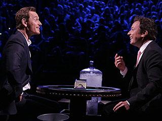FROM EW: Michael Fassbender Plays 'Frozen Blackjack' with Jimmy Fallon